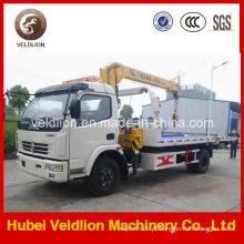 Caminhão de reboque do Wrecker do dever claro de Dongfeng com o guindaste na venda