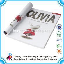 Moda de impressão personalizada e colorido capa mole Capa UV personalizado livros de diário