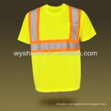 Nuevo tráfico de carretera de seguridad ropa de seguridad reflexiva ropa de malla de alta camiseta