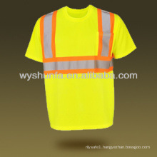 new road traffic security clothing reflective safety clothing mesh hi-vis t-shirt