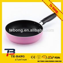 Utensilios de cocina de aluminio de color rosa conjunto de utensilios de cocina antiadherente de aluminio fundido a troquel de 15 piezas