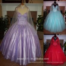 Vestido de la acción Vestidos dramáticos del vestido de Quinceañera embried Beaded Appliques tull Vestido de bola vestido de Quinceanera P7041