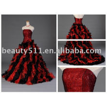 Nuevo estilo que rebordea el vestido de boda, vestido de boda, vestido nupcial, vestido nupcial MR-2-0058