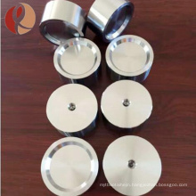 Polished threaded titanium target for surface coated