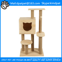 Gato de escalada de venda quente que desliza o coçador de gato e a cama do deslizador