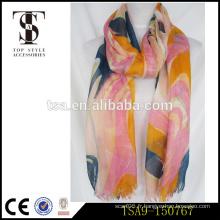 Eco-friendly tye mori girl style à la mode tout-match belle écharpe acrylique anti-pilling