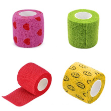 Free Shipping Wholesale High Quality 2 inch Non-slip High Elastic Adhesive Bandage Rolls 50mm Cohesive Tattoo Grip Tape Wrap