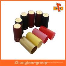 Anpassbare wasserdichte bedruckbare schrumpfbare wärmeempfindliche manipulationssichere flaschenkappen rote beschriftung