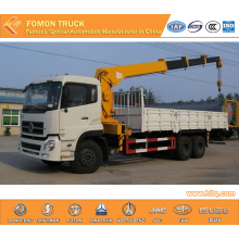Dongfeng 6*4 crane truck 12tons for sale