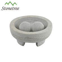 mortier et pilon en granit molcajete