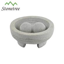 almofariz e pilão de granito molcajete