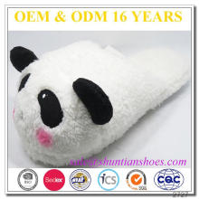 Popular panda design unisex grande cabeça de pelúcia plush chinelo