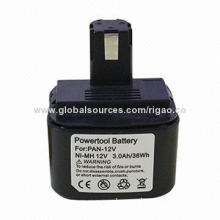 12V/3.0Ah NI-MH replacement battery for Panasonic power tool battery