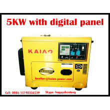 Portable Diesel Generator 4.5kw/5kVA Single Phase with Digital Panel Hot Sale!
