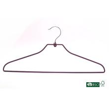 Gancho de vestuário de Eisho forte Fornecimento de fábrica PVC Metal Hanger