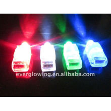 led light flashing finger beam