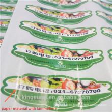 etiqueta de la industria alimentaria y de impresión personalizada, diferentes materiales y métodos de impresión disponibles