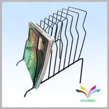 Counter office desk metal wire paper file rack