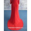 2017 Elegantes Applique-Partei-Kleid-Chiffon- langes Abend-Kleid mit wulstigem Oberseiten-Mieder