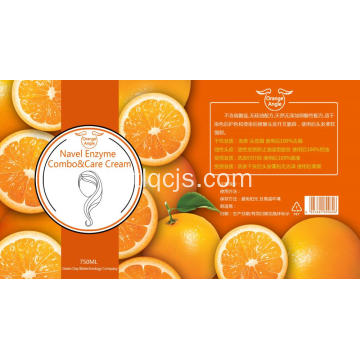 Orange navel shampooing