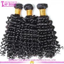 Atacado qingdao 5A grau cabelo virgem 20 polegadas mongol virgem kinky cabelo encaracolado