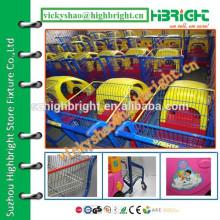 Carro de brinquedo popular carrinho de compras de plástico para alugar