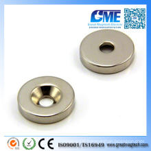 N42 D25X5mmx6 Strong Ring Countersunk Neodymium Magnet