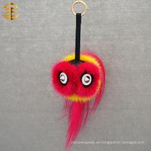 Art und Weise neue Ankunfts-nette Monster-Schlüsselketten-Pelz-Monster-Gesichts-Autos Keychain