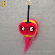 Мода Новое прибытие Симпатичные Monster Key Chain Fur Monster Face Cars Keychain