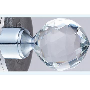 finial cristal utilisé sur la tringle à Rideau