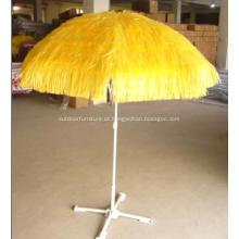 Guarda-chuva reto palha praia jardim