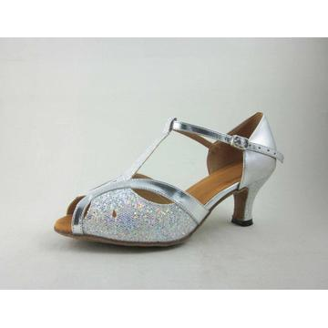 Argent chaussures dames latine