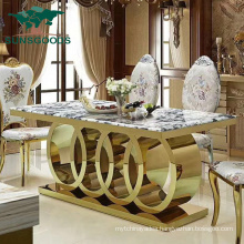 Modern Design Stainless Steel Furniture Wholesale Restaurant Table Leg Metal Dining Table
