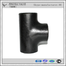 standard Welding seamless water oil gas pipe fitting carbon steel tee