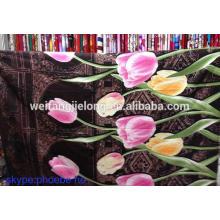 Tissu imprimé dispersé 100% polyester à weifang