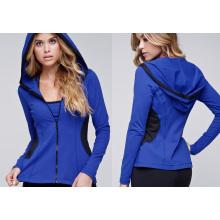 Venta al por mayor Gimnasio desgaste Ladies Formal Sports Hoodie chaqueta