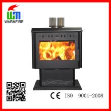CE nível WM204B com ventilador, inserir moldura de aço quentes Warm madeira lareira