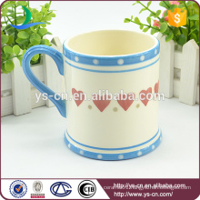 2015 China wholesale ceramic mugs With Loving Heart Design