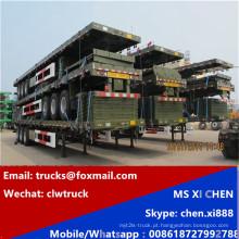 CLW 3 eixos 40ft contentor transporte Flat-Bed Trailer