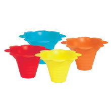 Sno-Cone Blume Drip Tray Cups, Multicolor Sundae Cup Eiscreme Cup