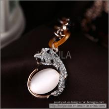 VAGULA Opal oro enchapado collar (Hln16340)