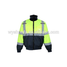 7 en 1 chaqueta de seguridad reflectante de alta visibilidad desmontable carretera 160g flocs chaqueta acolchada de relleno