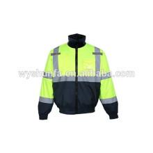 7 en 1 chaussure détachable veste de sécurité réfléchissante à haute visibilité 160g flocons veste de rembourrage matelassé