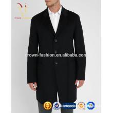 Casaco de lã longo West moda masculina