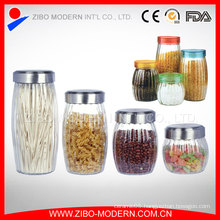 Best Selling Food Glass Container Candy Jars Clear Glass Cookie Jar