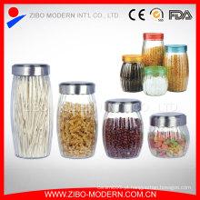Mais vendidos alimentos recipiente de vidro doces frascos de vidro transparente biscoito jar