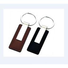 Кожаный брелок для ключей, Металлический брелок с искусственной кожей (GZHY-KA-023)