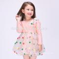 Venta caliente verano nuevo modelo de algodón niña vestido colorido punto impreso chica desgaste diario vestido