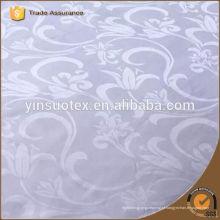 Algodão branco tecido de hotel 5 estrelas para conjunto de cama, tecido de folha