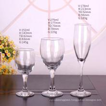 150ml 300ml long stem clear goblet wine glass